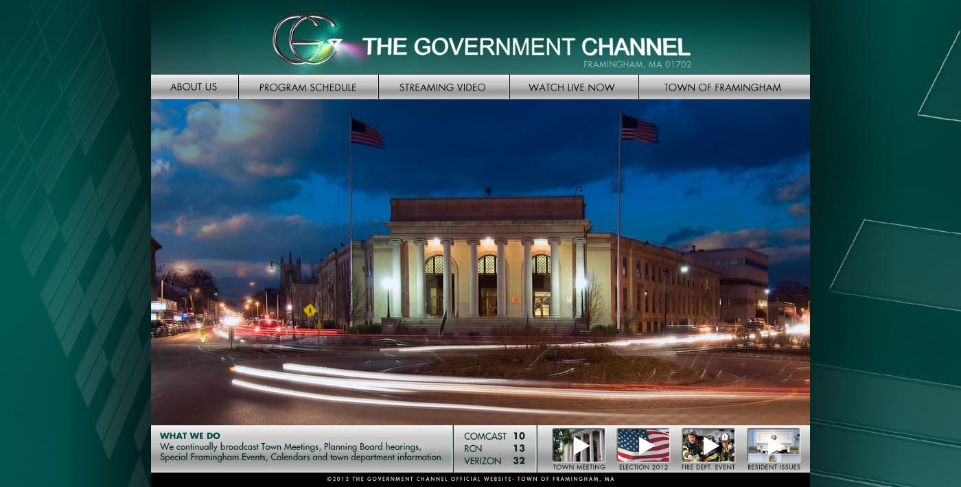 Government Channel website